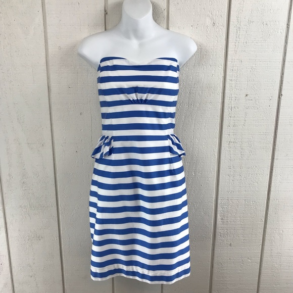 Lilly Pulitzer Dresses & Skirts - Lilly Pulitzer strapless striped dress size 12
